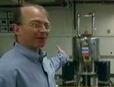 Professor Seth Lloyd showing a quantum computer