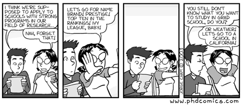 phdcomics.com : choosing grad school
