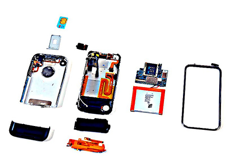 iPhone taken apart