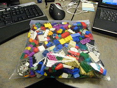 bag of lego blocks