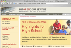 MIT OpenCourseWare website