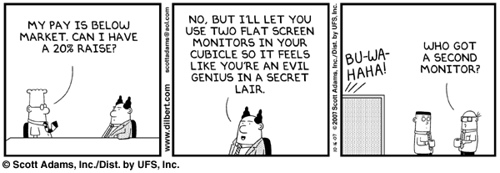 Dilbert - second monitor