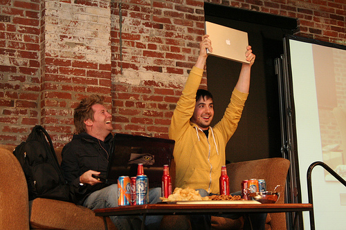 Digg's Kevin Rose with his Macbook