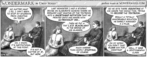 Wondermark 414: In which there may be Shortcuts to Success