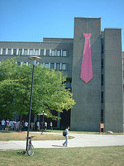 University of Waterloo's Math giant pink tie