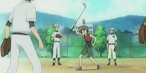 Higurashi: bringing a golf club to a baseball game