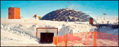 south pole station entrance